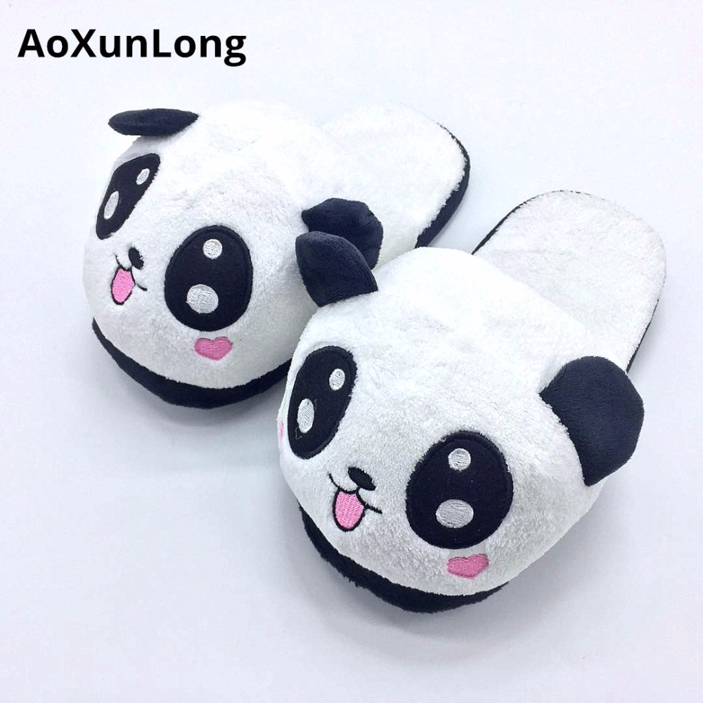 AoXunLong New Winter Slippers Women Pokemon Home Slippers House Warm Cute Panda Women Slippers Size 34-39 Hot Slipper Pantufa