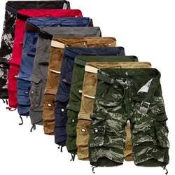 Мужские шорты-карго в стиле милитари, новинка 2019, армейские камуфляжные тактические шорты, мужские хлопковые свободные рабочие