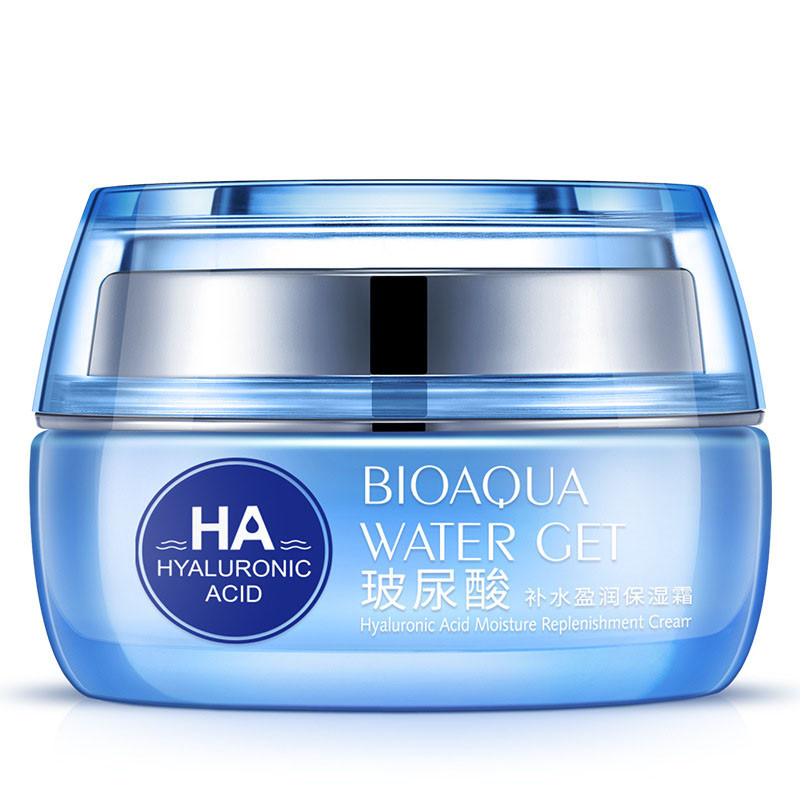 BIOAQUA Hyaluronic Acid Day Cream Whitening Moisturizing Anti Wrinkle Anti Aging Face Cream Face Care 100% original face care liang bang su professional whitening cream for face anti freckle face cream anti spot