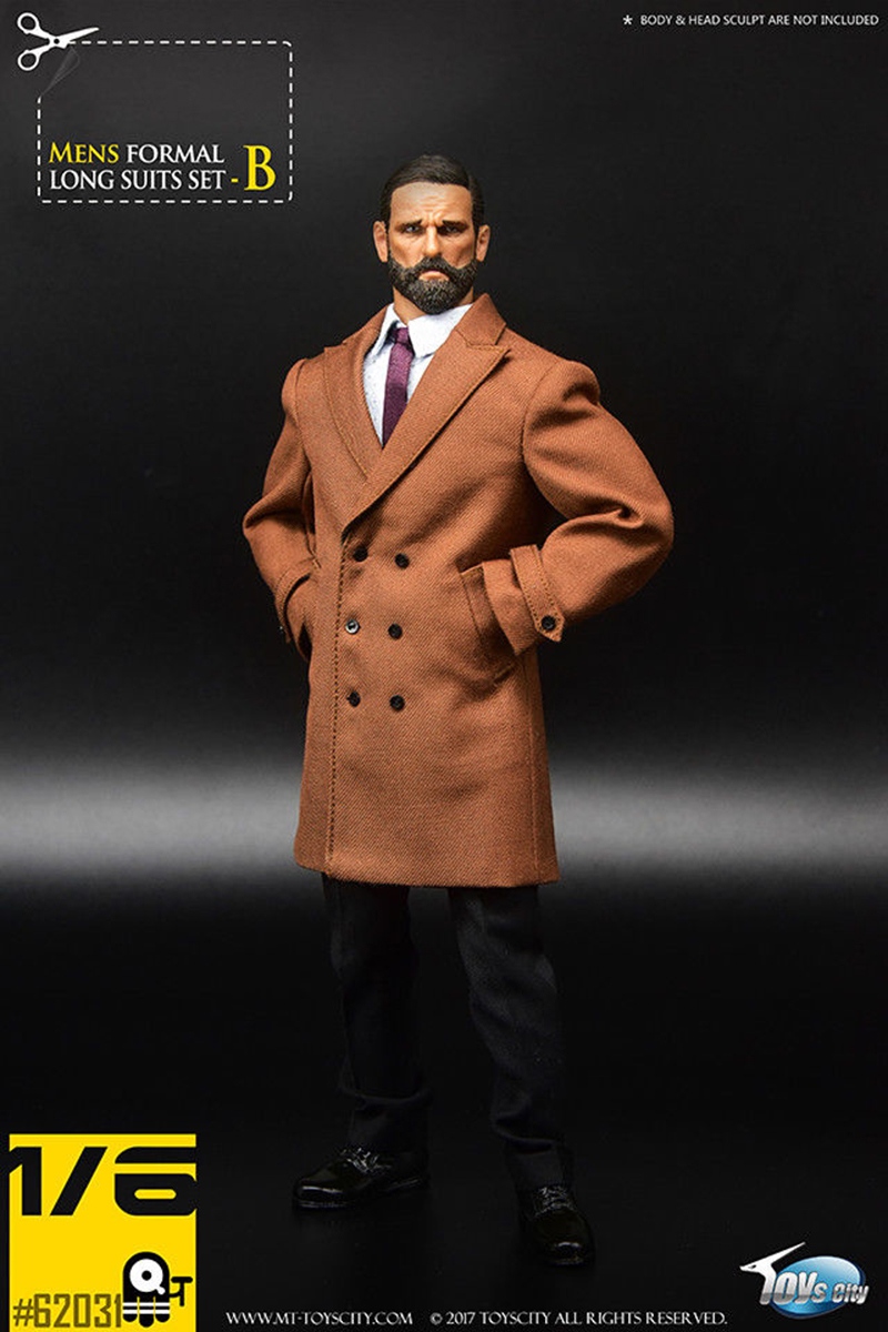 1 6 action figure clothing set Brown BLACK TC 62031 Gentleman Men 39 s Coat Formal Suit Set for 12 quot Male Man Figure Body Toy in Action amp Toy Figures from Toys amp Hobbies