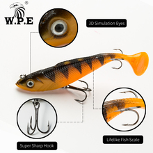 Buy W.P.E NEW Soft Lure 1pcs 8cm/10cm/12cm/14cm Lead Head Fishing Lures Jig Fishing Lure Carp Fishing Bait with 2 Treble Hook Tackle directly from merchant!