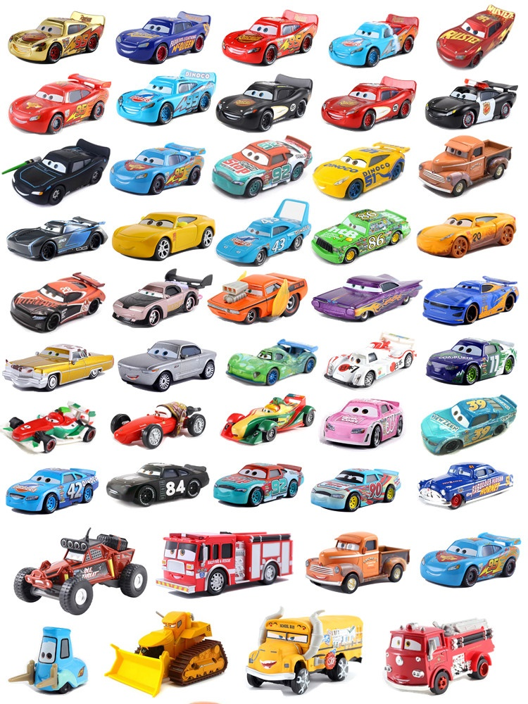 Children's Toy Die-Cast Lightning Mcqueen Metal-Alloy Racing Disney Pixar Family Car-3