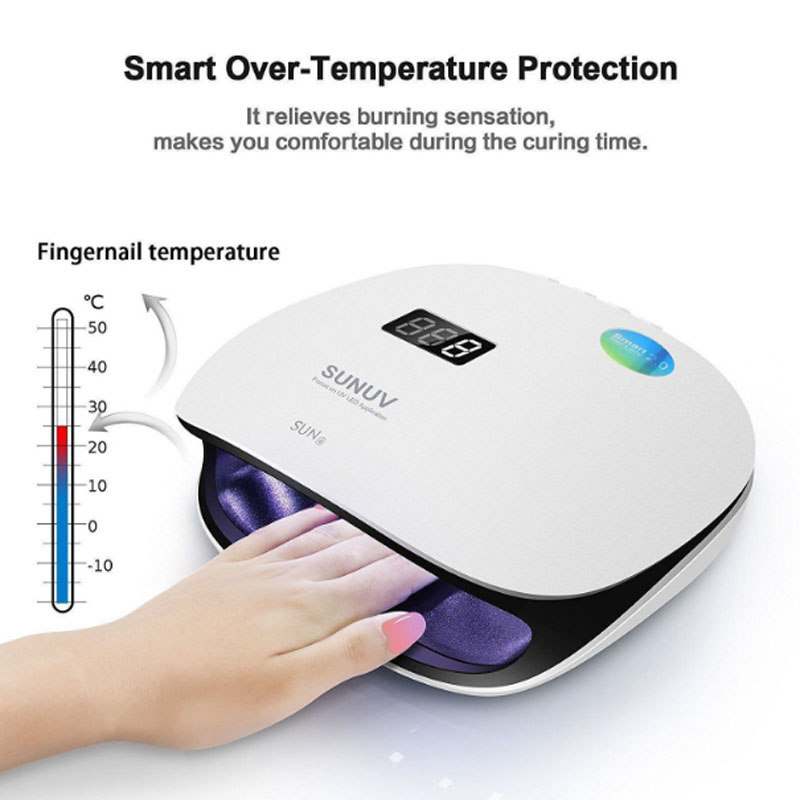 Sun4 UV LED Lamp 48W Nail Dryer With Sensor Nail Lamp for Gel Nails Polish Memory Timer LCD Display and Double-Speed Curing заметки на полях