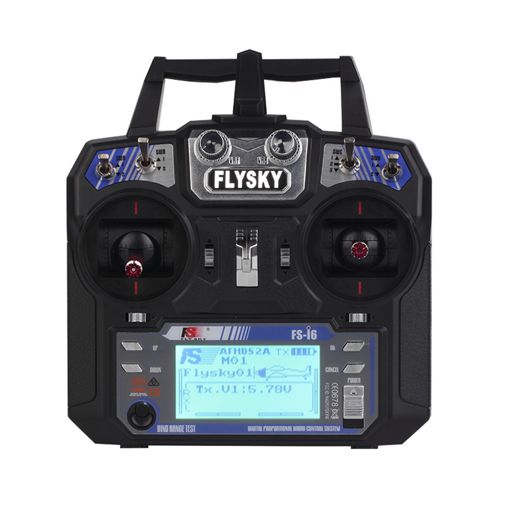 Flysky FS-i6 AFHDS 2A 2.4GHz 6CH Radio System Transmitter for RC Helicopter Glider with FS-iA6 Receiver Mode 2 flysky 2 4g 6ch channel fs t6 transmitter receiver radio system remote controller mode1 2 lcd w rx rc helicopter multirotor
