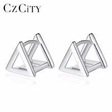 Czcity бренд треугольный Форма натуральная 925 стерлингового