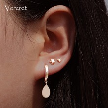 Vercret Sterling Silver Small Hoop Earrings Mini Cartilage Earring For Women Endless