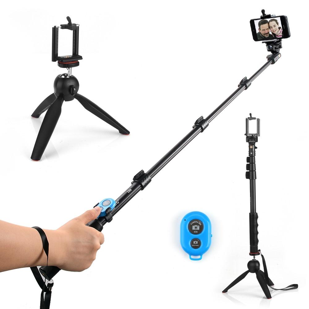 4 in 1 Yunteng 188 Selfie Stick Tripod Para+Yunteng 228 Mini Tripod+Bluetooth Remote Control Self-Timer Camera Shutter For Phone