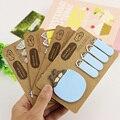 1 шт. Каваи Уникальный блокноты Крафт-Бумаги Животных Наклейки Bookmark Tab Флаги Памятка Книга Marker Sticky Notes