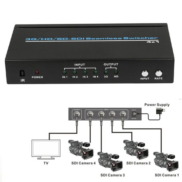 3G/HD/SD_SDI HD display 1080p Seamless switcher 4 x 1 converter serial digital video signal seamless switcher