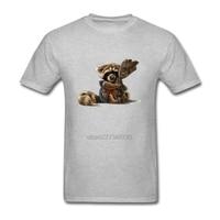 guardians of the galaxy t-shirt Rocket Raccoon Swag Mens T Shirts Short Sleeve T-Shirt Men's T Shirts O Neck Plus Size XS-XXXL