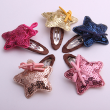 2017 New arrival fashion girls hair accessories  cute shining star design clips fringe hairpins 5 colors