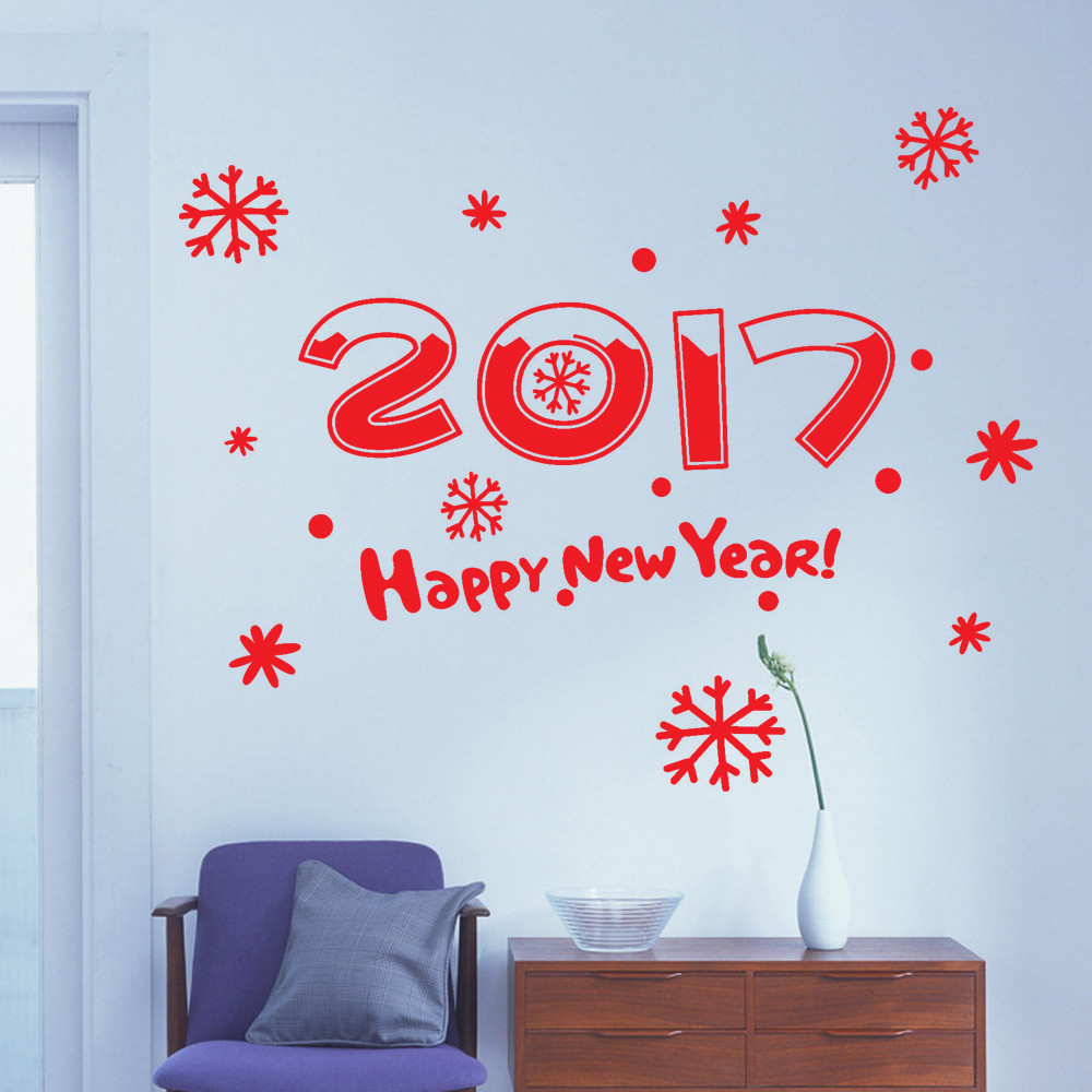 Creative cute classicnew year 2017 merry christmas wall sticker creative cute classicnew year 2017 merry christmas wall sticker home shop windows decals decor wall decals vinilos decorativos in underwear from mother amipublicfo Gallery
