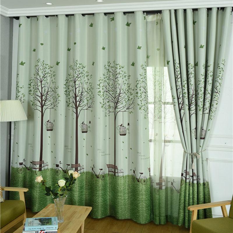 Cartoon Trees Curtains For Bedroom Cotton Linen Towel: Aliexpress.com : Buy Korean Bedroom Windows Shading