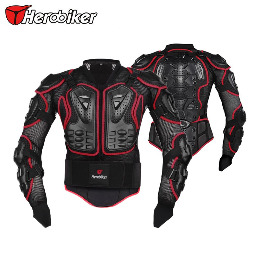 HEROBIKER Motorcycle Riding Body Protection Jacket Motocross Off Road Racing Spine Chest Protector Gear Back Support