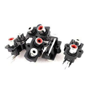 5 uds montaje en PCB 2 Posición estéreo clavija para Audio y vídeo RCA Terminal conector hembra