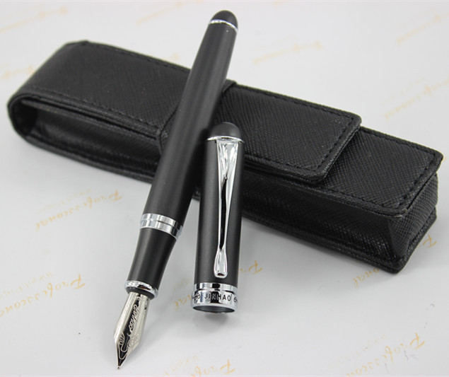 Luxury classic Jules verne Special Jin Hao  Black matte Fountain Pen Stationery school office supplies writing jin hao high quality classic ancient