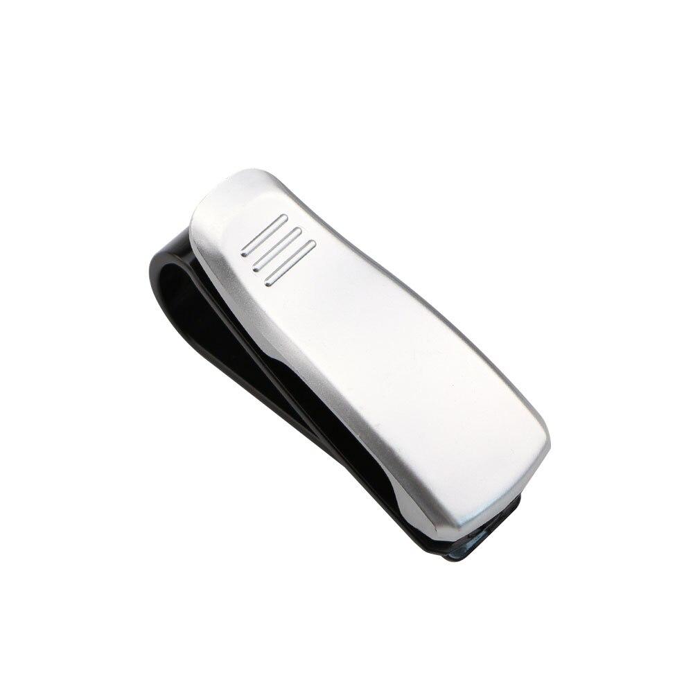 Горячая Авто крепежный зажим авто аксессуары ABS автомобиль солнцезащитный козырек солнечные очки, очки держатель зажим для билета - Название цвета: Silver