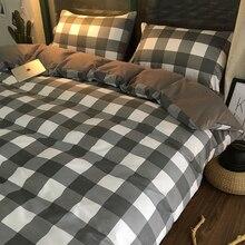 hot sale cotton 3pcs simple style leopard plaid pillowcase single bedding bed sheet set bedclothes duvet cover