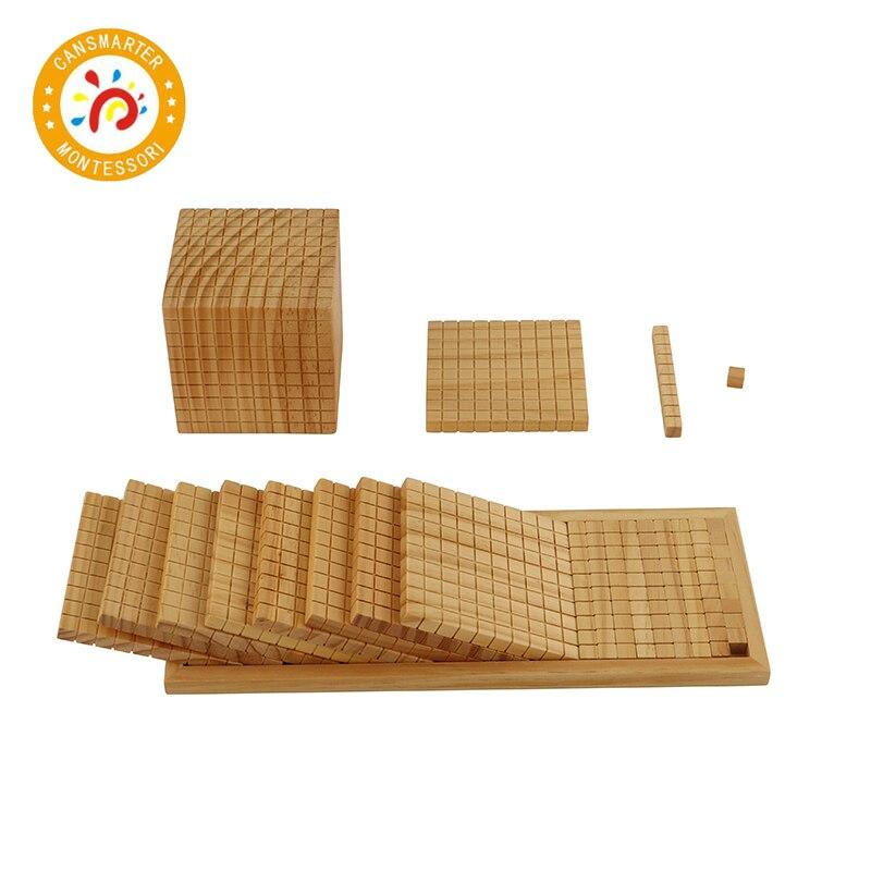 Jouet bébé Montessori matériaux mathématiques dix blocs de construction enfants jouets éducatifs jouet mathématique