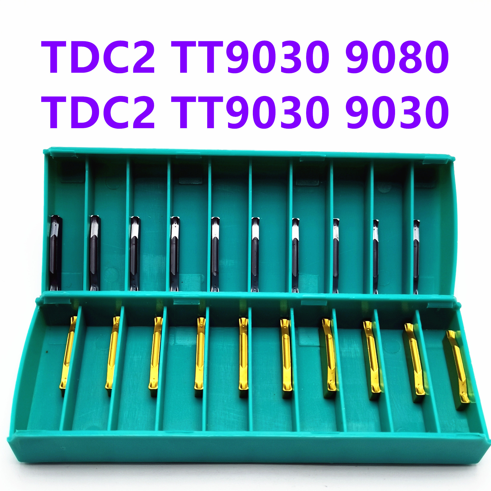 Tungsten Carbide TDC2 TT9030 TT9080 Grooved Carbide Insert TDC Lathe Tool Turning Tool and Grooving Tool