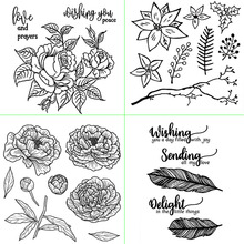 2019 new floral transparent clear stamp used for scrapbooking rubber sealing paper craft card production