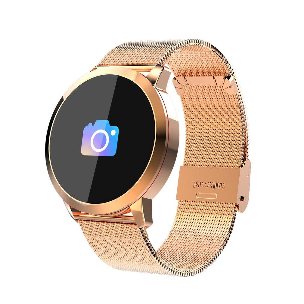Pantalla táctil del Color Q8 1080 p Smart Watch hombres mujeres IP67 impermeable deporte Cámara dispositivos Wearable electrónica para Android y iOS