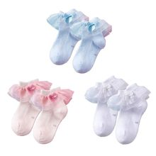 New Summer Children Lace bow-knot Socks Breathable Mesh Princess Sock Thin Girls Baby Student Cotton