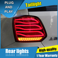 2PCS Car Styling for VW polo Taillights 2011 2017 for polo LED Tail Lamp+Turn Signal+Brake+Reverse LED light