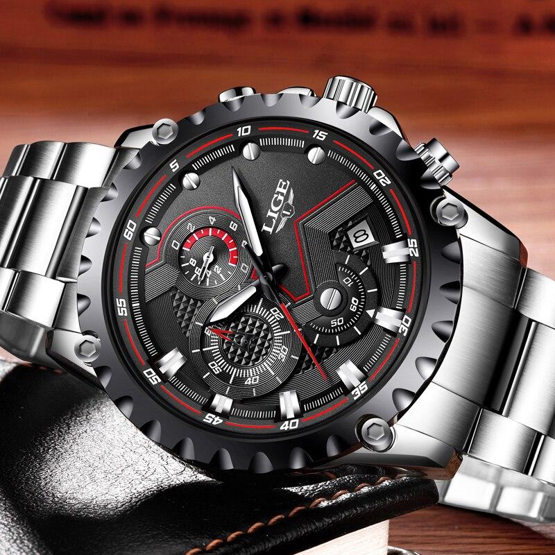 Men's Watch LIGE Top Brands Luxury Sports 1