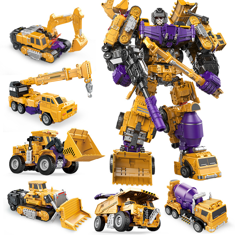 Children/'s Toy Transformer Robot Truck Engineering Construction Machine Truck