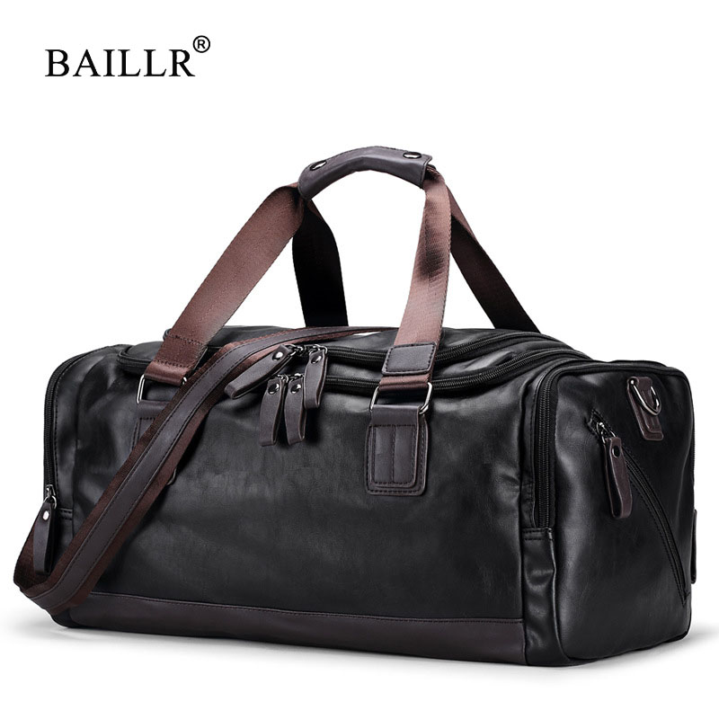 BAILLR Brand Vintage Handbags Men's Casual Tote For Men Large-Capacity Portable Shoulder Bags Men's Fashion Travel Bags Package kadell unisex handbags for men large capacity portable shoulder bags travel bags package soft pu leather retro bags women