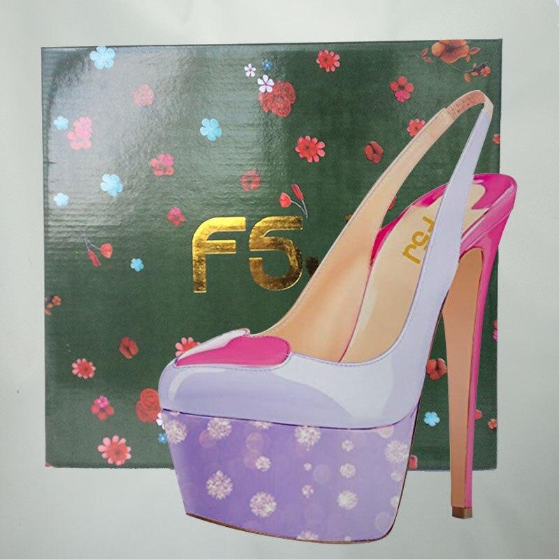 Alta Verano Zapatos Finos Moda Correa Señoras Bombas Slingbacks fsj02  Tobillo Fsj Plataforma Mujer Melocotón Decoración ... e67f35dfa431