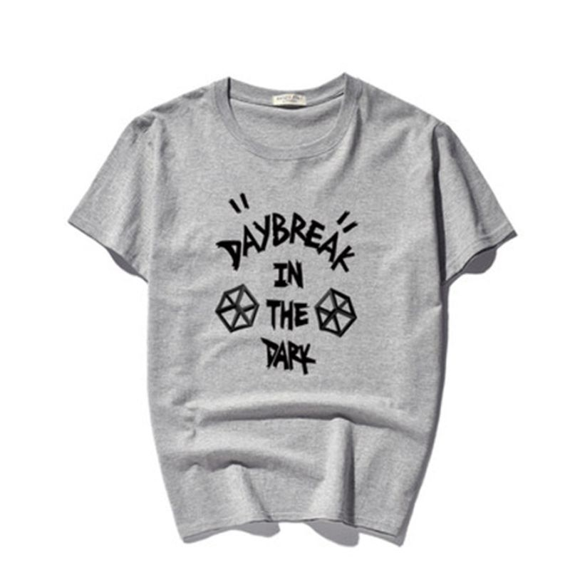 Daybreak i mörkret Tryckt T-shirt Kortärmad Mäns Bomull Svart Hip - Herrkläder - Foto 5
