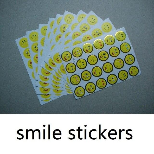 Free shipping smile sticker for teacher reward children yellow round smile sticker