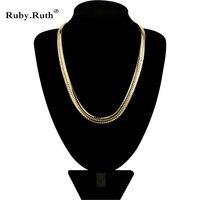 Đàn ông Phụ Nữ Jewelry Mới Thời Trang Vàng Màu Trang Sức Nam Vòng Cổ Bằng Đồng 55 CM Dài Người Đàn Ông Vòng C