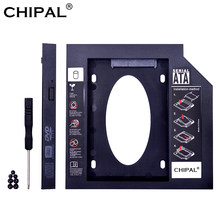 CHIPAL Plastic Tweede 2nd HDD Caddy 12.7mm SATA 3.0 Optibay 2.5 ''SSD DVD Hard Disk Driver Case CD-ROM adapter Box Behuizing(China)