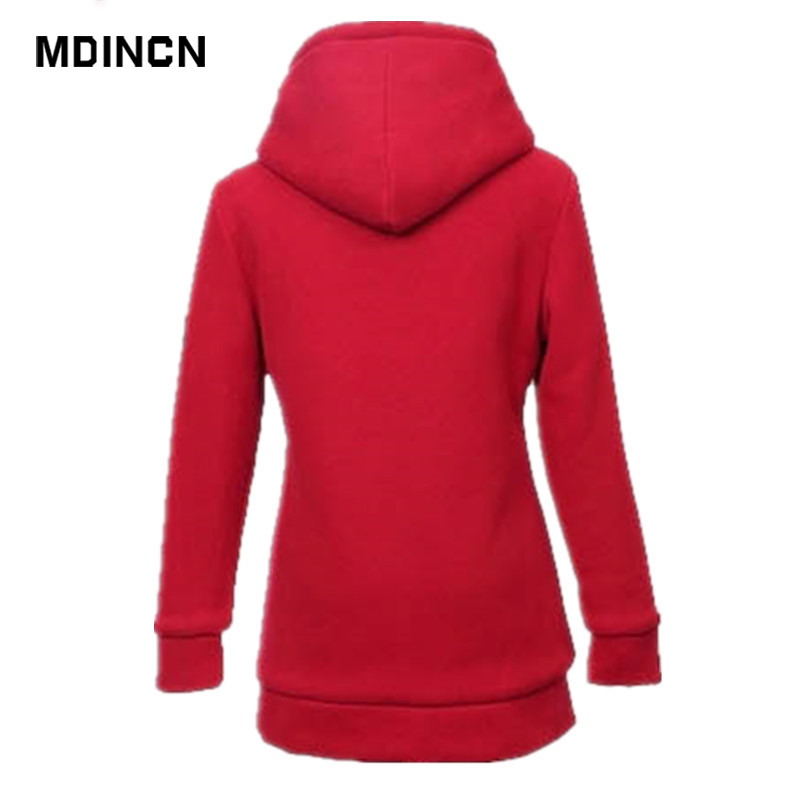 497ea94d55 Plus Size Women Clothing Solid Color Plush Thick Supreme Hoodie Hooded Long  Sleeved Zipper Hoodies Women LR3-in Hoodies & Sweatshirts from Women's  Clothing ...