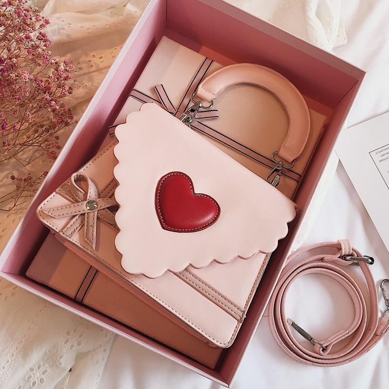 Sweet Cute Girl Handbags 2020 Fashion Women's Designer Handbag High Quality PU Leather Women Bag Bow Tote Shoulder Messenger Bag