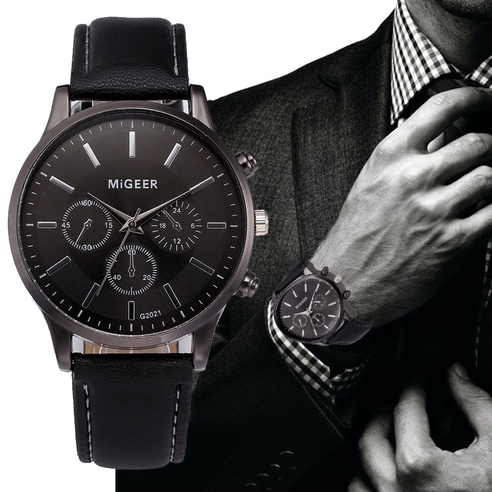 #5021Retro Design Leather Band Analog Alloy Quartz Wrist Watch DROPSHIPPING New Arrival Freeshipping Hot Sales super speed v0169 fashionable silicone band men s quartz analog wrist watch blue 1 x lr626
