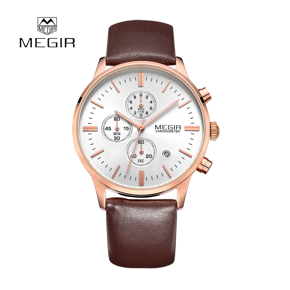 megir sports watches mens top brand luxury relogio