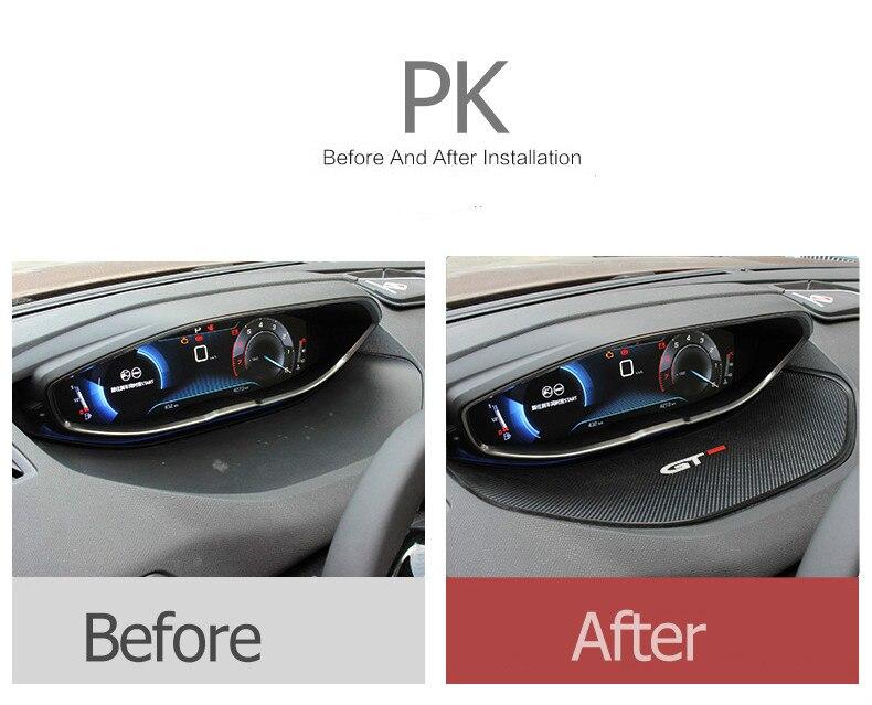 Pour Peugeot 2016 2017 2018 3008 GT/2017 5008 GT 1 pcs Instrument d'affichage anti-skid pad voiture accessoires