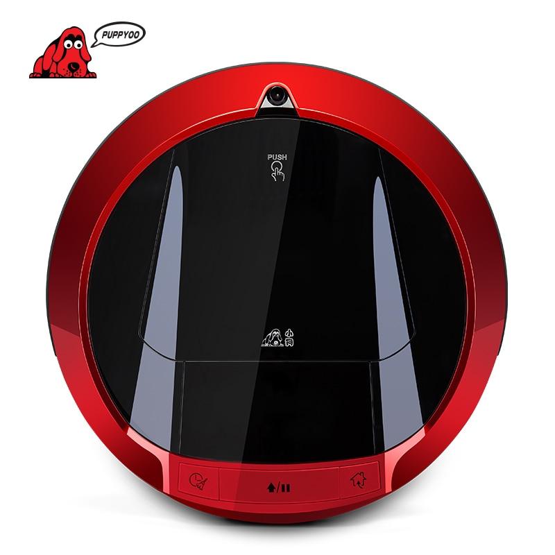 PUPPYOO Multifunzionale Robot Aspirapolvere Auto-Ricarica Spazzata Casa Collettore di Aspirazione LED Touch Screen Spazzole Laterali V-M900R