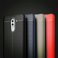 For Huawei Honor 6X Case Luxury TPU Silicone Imitation Leather back Cover Case for Honor6X Cover for Huawei GR5 2017