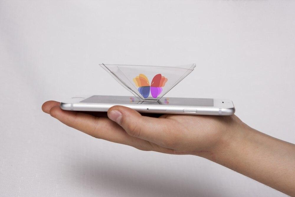 OfficiëLe Website 2 Stks Smartphone Piramide Projector/3d Hologram Piramide Display Projector Voor Smartphone, Universele Voor Ios, Android Zeer EfficiëNt Bij Het Behouden Van Warmte