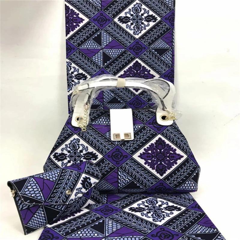 African wax bag sets wholesale Ankara African wax print fabric with handbag 100% cotton African fabrics for women dress YBG01221African wax bag sets wholesale Ankara African wax print fabric with handbag 100% cotton African fabrics for women dress YBG01221