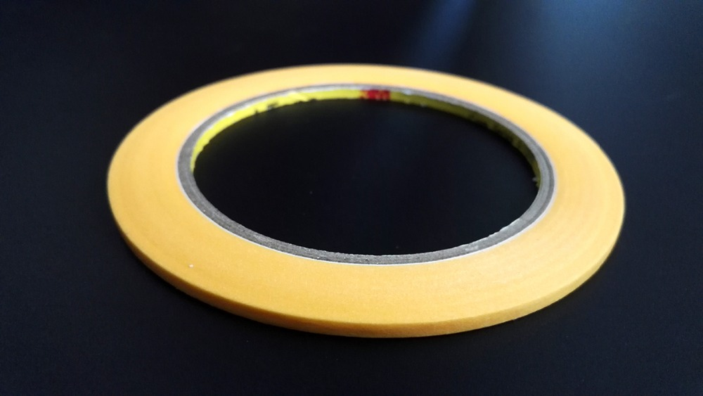 1x New 5mm*50M High Temperature Withstand Masking Tape Yellow 3M244 for Auto Coating PCB Shielding цена и фото