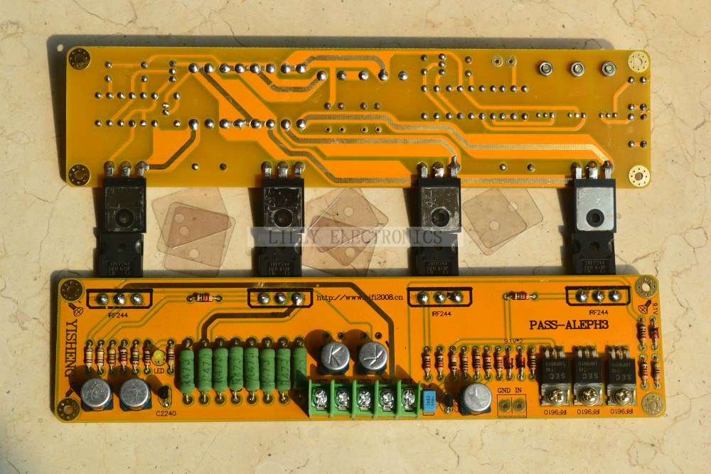 Class A single-ended 2*PASS A3 HIFI Amplifier board IRF9610 IRF244 30W+30W DC25V цена 2017
