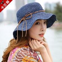 Princezna sladká sláma klobouk dospělý měkká sláma slunce víčko dívky pláž slunce klobouk skládací tkaní slunce klobouk studenti venku cestovní klobouk B-7992
