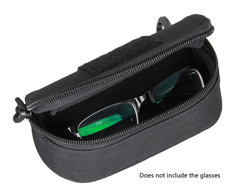 Free Shipping Black Color Shockproof Goggles Sun Glasses Case Pouch 1000D Nylon Molle Military Case PPT6-0100 1 piece free shipping anodizing aluminium amplifiers black wall mounted distribution case 80x234x250mm