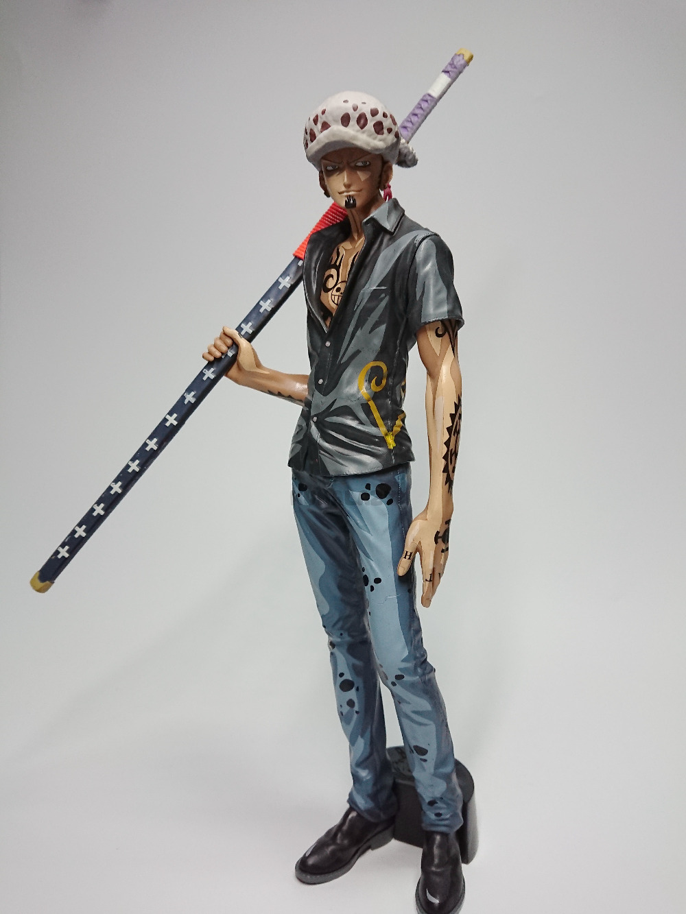 LAW Figure Trafalgar Law Luffy One Piece Santoryu MSP Comic Ver Death Doctor One Piece 28cm Action Figure KID GIFT